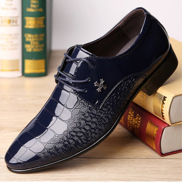 Grain Leather Men Wedding Oxford Shoes Lace-Up Office Suit Men's Casual Shoes