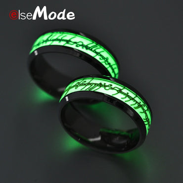 Black Titanium Steel Luminous Lord of one Ring