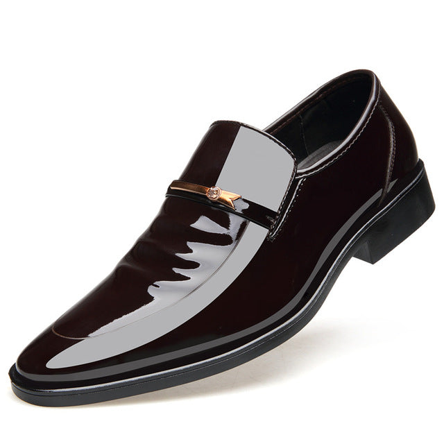 e25eebb1e33aba M Vintage Design Patent Leather Oxford Shoes Dress Shoes Men Formal Shoes  Pointed Toe Business Wedding