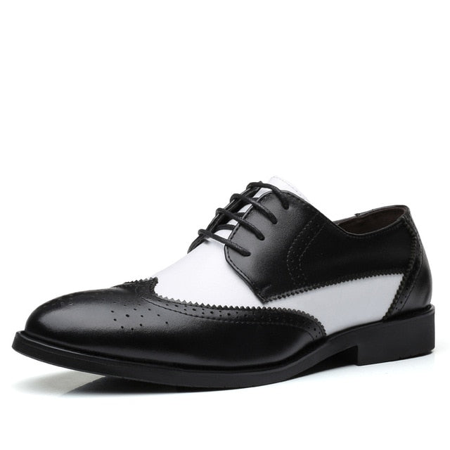 Misalwa Italian Stylish Men's Dress Shoes Blucher Oxford Shoes