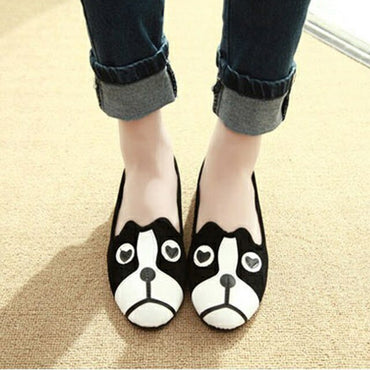 Cute Loafers Cat Dog Flat Shoes