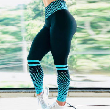 High Waist Women Fitness Elasticity Print Legings
