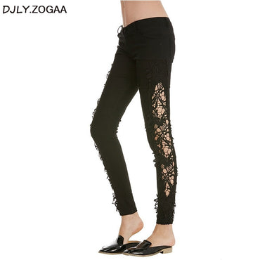 Slim Lace Long Lace Jeans