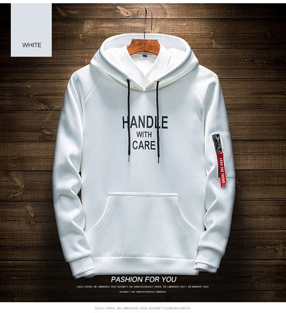 Hot Cool Sweatshirt Solid color  Hip Hop Long Sleeve Pullover Hoodies