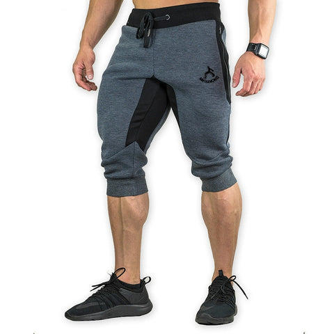 3/4 Jogger Capri Pants Breathable Below Knee Short