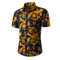 Hawaiian Casual Printed Beach Short Sleeve Shirt