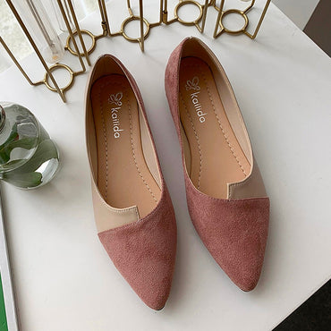 Splice Color Flats Fashion Ballerina Ballet Flat Slip Flat Shoes