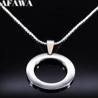 Round Stainless Steel Necklaces