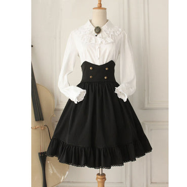 Gothic High Waist Retro Style Short Skirt
