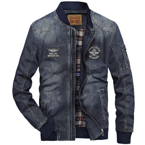 Multi Pocket Cotton Casual Denim Jacket