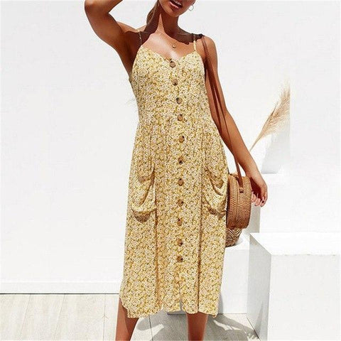 Summer Dress Sexy Backless Spaghetti Strap Dresses