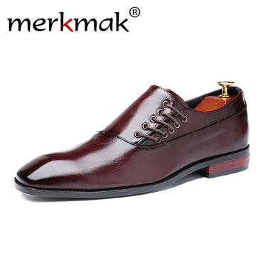 Brand Men Dress shoes Classic Lace-up High quality business Suit Versatile Soft Casual shoes