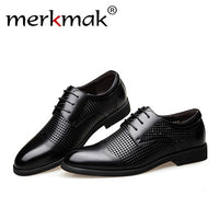 Genuine Leather Hollow Out Oxfords Shoes