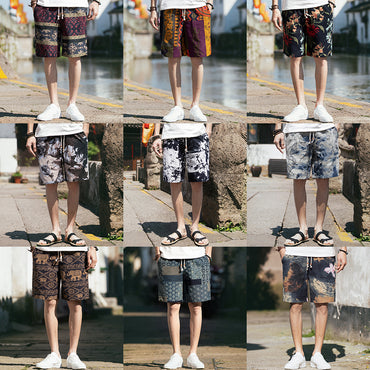 Colorful Streetwear Hip Hop Casual Sweat Shorts