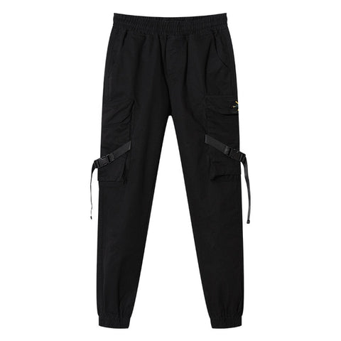Joggers Pants Side-pockets Cotton Camouflage Pants