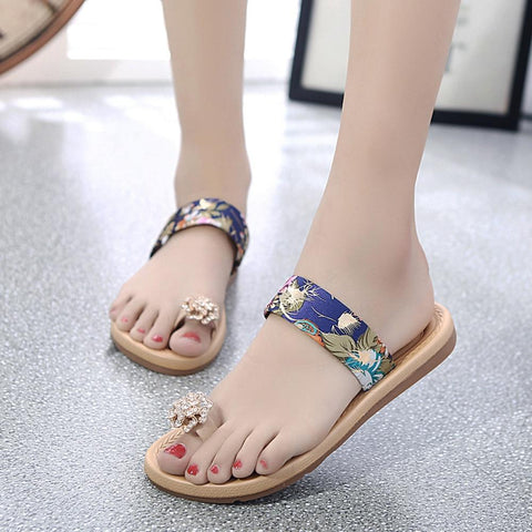 Open Toe Flat Flip Flops Sandals Loafers Bohemia Shoes