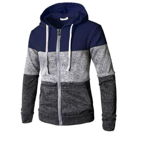 Stitching Color casual Pullover  Hoodie