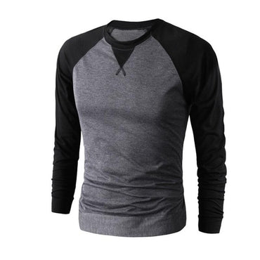 Long Sleeve O-neck Baseball T-Shirt