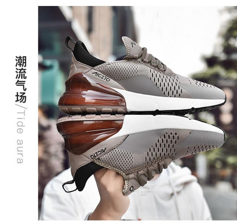 Air Sole Breathable Mesh Lace-up Shoes