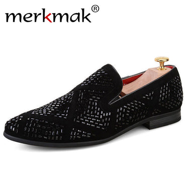 Brand Men Loafers Handmade Leather Italian Loafers Flat Casual Shoes