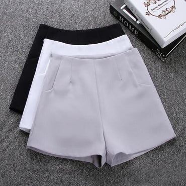 Casual Suit Shorts Black White Skirts
