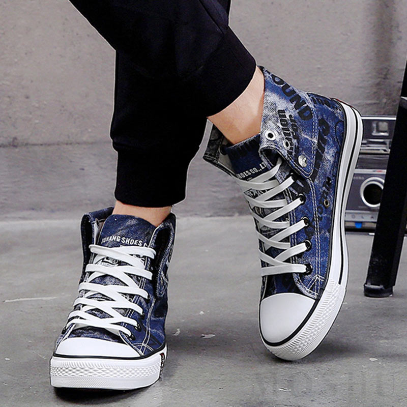 Denim Women Canvas High Top Shoes Summer Sneaker Casual XnOPwN08k