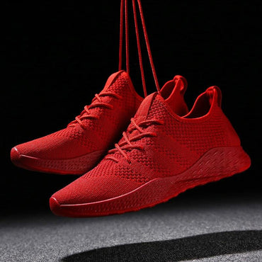 Male Casual Shoes Sneakers Flats Mesh Loafers Fly Knit Breathable Shoes