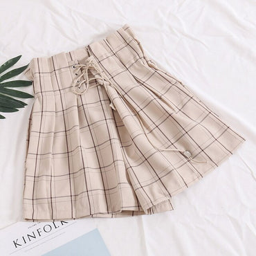 Shorts Femenino Plaid Shorts