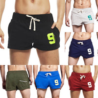 Leisure Cotton Drawstring Slim Fit Home Sports Shorts
