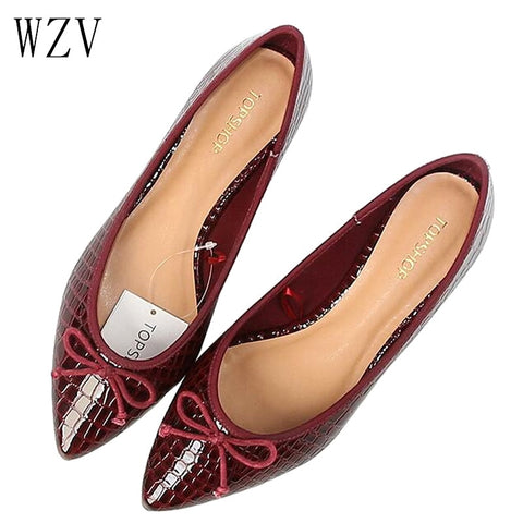 Casual Tennis Leather Pointed Toe Flat Shoes