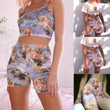 Outdoor Angel Printed Shorts