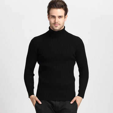Spring Autumn Elasticity Pullover Turtle Neck Long Sleeve Solid Colors Sweater