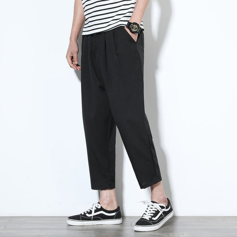 Nature Cotton Linen Trousers Summer Pants