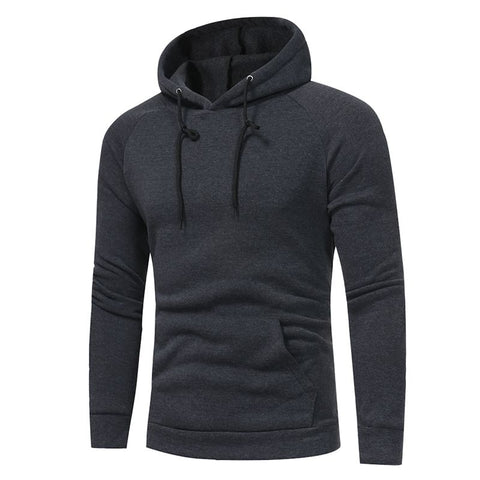 Fashion Hoodies  Solid Color Pocket Sweatshirt Cotton Hoodie