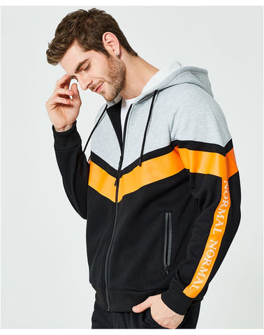 Fashion New Patchwork Color Thickened Men's Sweatshirts