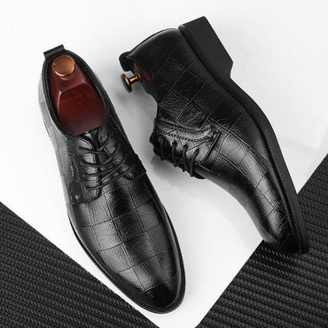 Black Brown Low Top Men Formal Office Shoes Men Dress Shoes