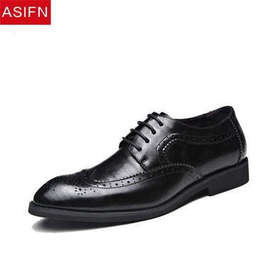 Mens Leather Shoes High Quality Work Pointed Toe Dress Shoes
