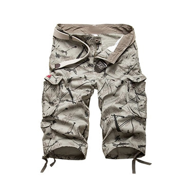 Cotton Mens Cargo Shorts Fashion Camouflage Male Shorts