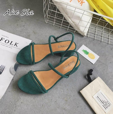 Flat outdoor slippers Sandals