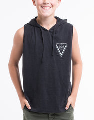 ST GOLIATH BOYS Next Hooded Muscle Tee - Black - Tween Boys - 8-14