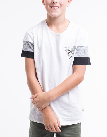 ST GOLIATH BOYS West Tee - White - Tween 8 - 14