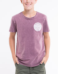 ST GOLIATH BOYS Phoenix Tee - Burgundy - Tween Boys 8-14