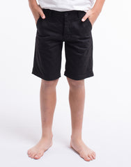 StT GOLIATH BOYS Pez Chino Short - Black - Tween Boys 8-14