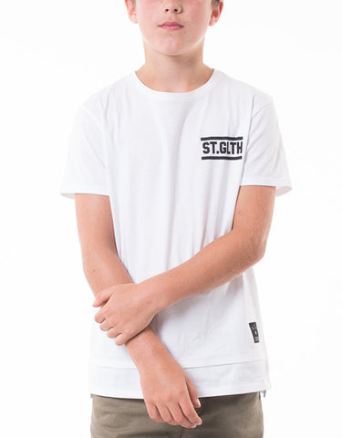 ST GOLIATH BOYS Noah Tee - White - Boys 8-14