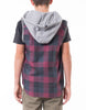 ST GOLIATH BOYS Oliver Sleeveless Shirt - Check - 8-14