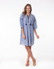 ELM LIFESTYLE Craftwork Dress - Blue Embroidery - Ladies 10-16