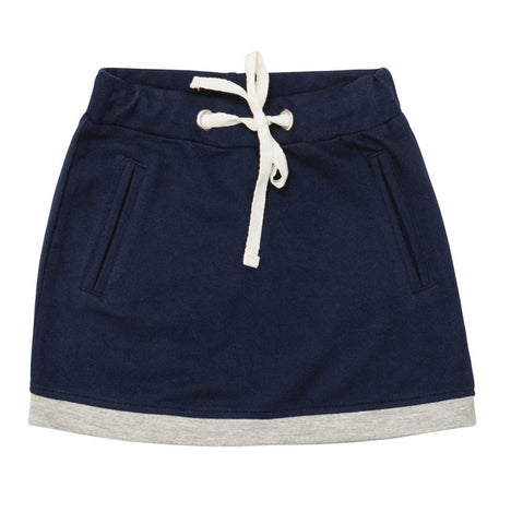 BAOBAB Navy Fleece Mini Skirt