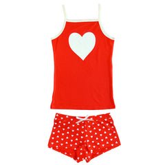 BLUEBELLE Scented Heart Girl's Two Piece Set / Red