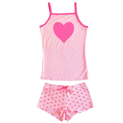 BLUEBELLE Scented Heart Girl's Two Piece Set / Pink