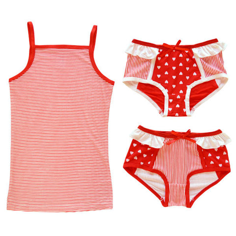 BLUEBELLE Maude Girl's 3 Piece Set / Red Heart